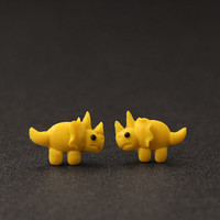 Triceratops Dino Earrings Dinosaur Jewelry Polymer by PixieHearts