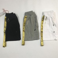 spbest Off white 17ss golden belt shorts