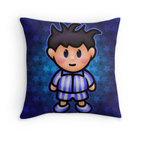 'Ness in Pajamas' Throw Pillow by likelikes