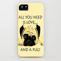 Love and a Pug iPhone Case by Veronica Ventress   Society6