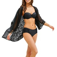Swimsuit Cover Up Bohemian  Chiffon Beach Cover Up Lace Bathing Suit Cover Ups Women Beach Wear Pareos Swimwear Cover Up