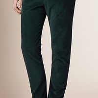 Straight Fit Corduroy Trousers