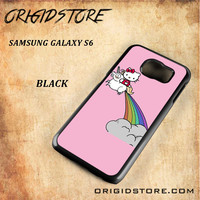 HELLO KITTY UNICORN Snap on 2D Black and White Or 3D Suitable With Image For Samsung Galaxy S6 Case