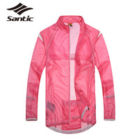 2015 Santic Cycling Jacket For Women Ladies Ultralight UV400 Waterproof Running Bicycle Bike Rain Jacket Rain Coat Windbreaker