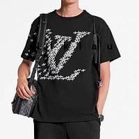 Louis Vuitton LV New Couple's Airplane Logo Print Short Sleeve T-Shirt