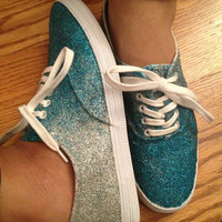 Ombre Glitter Canvas Shoes