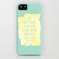 LES MISERABLES LOVE iPhone & iPod Case by Lina Elyse Patton
