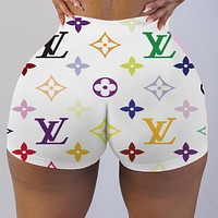 LV 2020 new women's fashion letter printed shorts