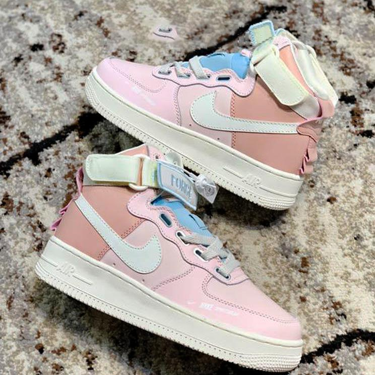 Image of Nike Air Force 1 AF1 High-Top Women's All-match Color Block Sneakers Shoes