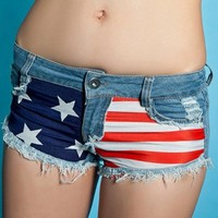 American Flag Distressed Shorts from CherryKreations21