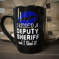 Police Officer / Dispatcher / Firefighter / Deputy Sheriff SINGLE MUG Coffee Mug Thin Blue Line Thin Gold Line Thin Red Line Customizable