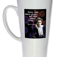 Marie Curie Quote Tall 17oz Latte Mug