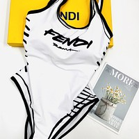 Fendi logo printed one-piece bikini