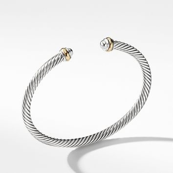 Cable Classics Bracelet with 18K Gold, 4mm