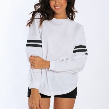 Miami Style® Sporty Oversized Crew Neck Pullover