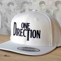 1D logo Snapback embroidered hat from One Direction custom hat.  Beetles Style 1D Snap Back