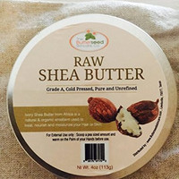 100% Unrefined RAW SHEA BUTTER-Premium Quality (4oz)-Excellent for the relief of Dry Skin,Eczema,Stretch Marks & Acne-Prone Skin,moisturizing and anti-aging: