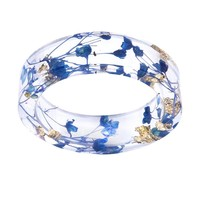 Trendy Dried Flower Transparent Resin Ring