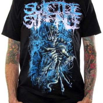Suicide Silence T-Shirt - Blue Infliction