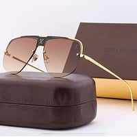 Louis Vuitton LV Women Casual Popular Summer Sun Shades Eyeglasses Glasses Sunglasses