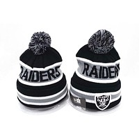 Oakland Raiders Women Men Embroidery Beanies Winter Knit Hat Cap