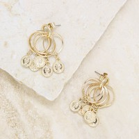 Mini Jingle Coin Charms & 18kt Gold Plated Stud Hoops