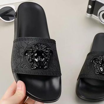 Trendsetter Versace Women Men Fashion Casual Slipper Shoes