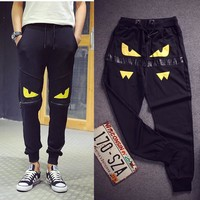 2015 New Japan's Personality Monster Casual Harem Pants Men Hip Hop Designer Pants Men