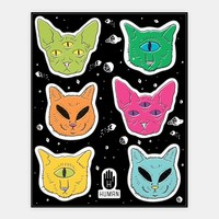 Alien Cat Stickers