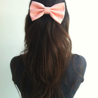 Peach Pink BIG bow