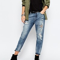 Only Boyfriend Jeans With Distressing