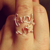 The Fuck It Rings by MadebyLeahSue on Etsy