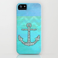 Tribal Anchor iPhone & iPod Case by M Studio - iPhone 3G, 3GS, 4, 4S, 5/iPod Touch 5/Galaxy S4