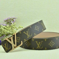 Cheap Louis Vuitton Woman Men Fashion Smooth Buckle Belt Leather Belt for sale q_2291738334_160