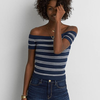 AEO Off-The-Shoulder Sweater, Navy