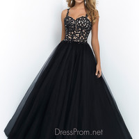 Sweetheart With Shoulder Straps Lace Ball Gown Blush Prom Dress 5416