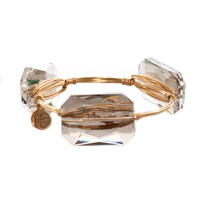 Bourbon & Bowties Large Smoke Iridescent Rectangle Bangle