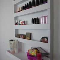 Μake up organizer - nail polish rack- bathroom storage- pencil,brush,lipstick holder -wall organizer - shelf -acrylic - rangement maquillage