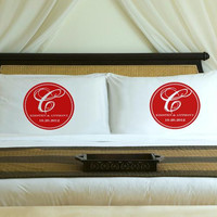 Personalized Romantic Red Magical Monogram Pillow Case Set