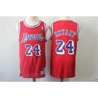 Lakers 24 Kobe red retro NBA Jersey