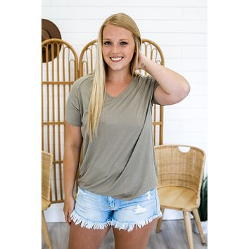 Simply The Best Tee - Light Olive