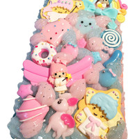 NEW! Ready to Ship! iPhone 6 PLUS Kawaii Blue/Pink Little Twin Stars Decoden Case