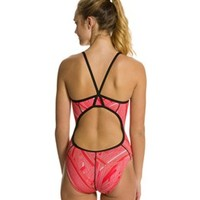 Sporti Linear Thin Strap Swimsuit at SwimOutlet.com