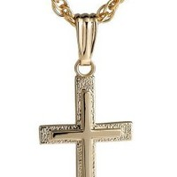 14k Yellow Gold-Filled Cross Pendant Necklace, 18""