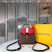 DCCK Lv Louis Vuitton Fashion Women Men Gb29610 N42262 Damier Ebene Comes In All Kinds Of Styles Clapton Backpack 21.0 X 21.0 X 11.0 Cm