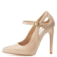 Qupid Cut-Out Pointed Toe Pumps by Charlotte Russe