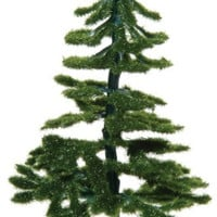 Darice 3700-26 2-Pack Powdered Fiber Diorama Christmas Tree with Flocked Leaves, 4-Inch