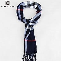 Winter Design Men Shawls Scarves polyester Fall Fashion Designer Wrap Men Business Scarf With Tassels