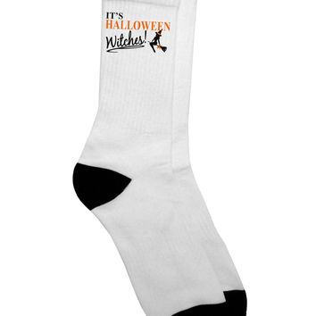 It's Halloween Witches Adult Crew Socks
