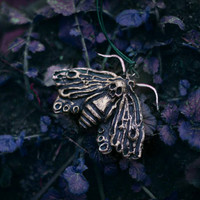"""Gothic Necklace  """"Shadow Queen """" - Moth"""